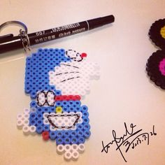 Doraemon perler beads by lisibeibei