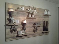 Awesome wooden wall decor made of reclaimed wood. Really stands out in your interior. Love it. Home Decor Ideas Decorations DIY Home Make Over Furniture Wooden Wall Decor, Wooden Walls, Scaffolding Wood, Decoration Palette, Palette Deco, Deco Originale, Home And Deco, Old Wood, Pallet Furniture