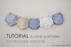 Tutorial cubrepañal o braguita bebe (patrones gratis)