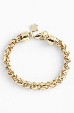 Kate Spade new york 'learn the ropes' link bracelet in gold