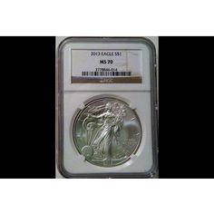 Shop 2013 $1 American Silver Eagle Brown Label MS70/NGC and other jewelry, art, coins, rugs and real estate at www.aantv.com