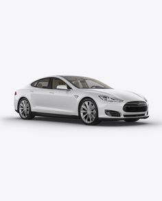 Tesla Model S Mockup – Halfside View