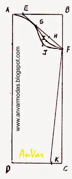 Llamada también manga tubular o pegada En este trazado no utilizamos medidas fijas. El ancho de la manga , la altura de la c...