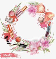 Women supplies vector PNG and Vector Makeup Business Cards, Business Holiday Cards, Makeup Collage, Makeup Clipart, Logo Fleur, Makeup Illustration, Nail Logo, Nail Salon Decor, Makeup Artist Logo