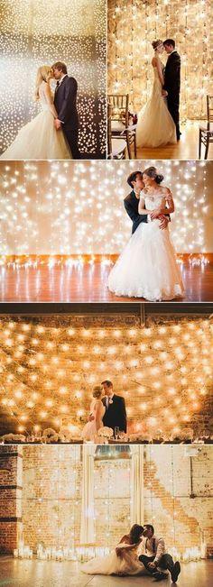 32 Decoration Ideas to Create a Magical Fairy Tale Reception! Romantic Photo Backdrop