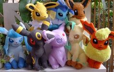 New 2012 Tomy Total 8pcs Eevee Pokemon Plush Doll Toy Figure Collectible RARE | eBay