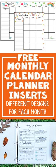 Free Printables: Monthly Calendar Planner