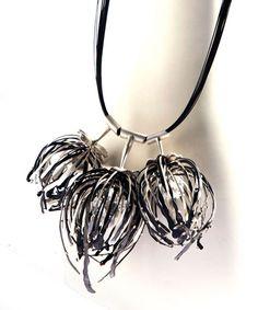 Bongsang Cho, Night Blossom Necklace | Steel, Sterling Silver, Laser welding.