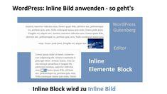 WordPress: Inline Elemente Block - so fügst du ein Bild zum Text hinzu