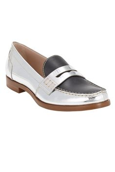 Miu Miu Metallic Penny Loafer