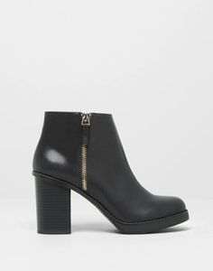 HIGH HEEL ANKLE BOOTS WITH ZIP Pull And Bear