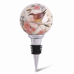 """Love Is In All Things"" Hand-painted Wine Stopper"