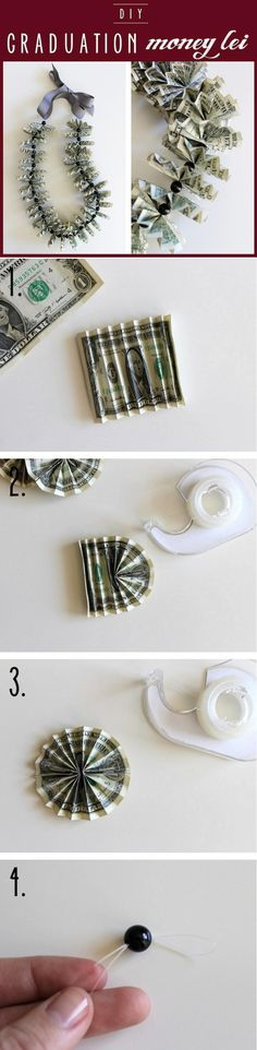 DIY Tutorial Leis / Graduation Money Lei - Bead&Cord
