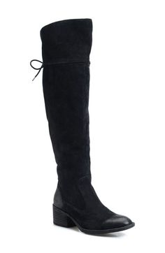 Free shipping and returns on Børn 'Gallinara' Over the Knee Boot (Women) (Wide Calf) at Nordstrom.com. Handcrafted Opanka construction adds superior flexibility and lightweight durability to a lean over-the-knee boot cut from lush suede.The almond-toe silhouette is further enhanced with a lace-up shaft and a chunky, stacked heel for a look that's both stylish and timeless.