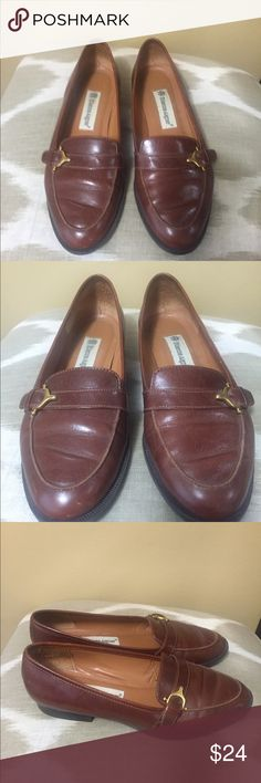 "Etienne Aigner Brown Leather Loafers 6.5M Etienne Aigner Brown Leather Loafers 6.5M With 0.5"" Heels Etienne Aigner Shoes Flats & Loafers"