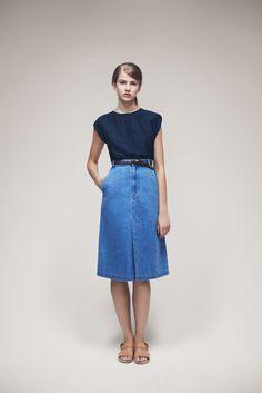 Tetra Blouse, Skinny Belt and Juli Skirt | Samuji SS15 Classic Collection