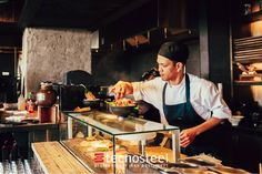 Cold showcase for and Sushi Bar Design, Sushi Chef, Sushi Restaurants, Restaurant Equipment, Sashimi, Cooking, Home Decoration, Restaurants, Commercial Restaurant Equipment