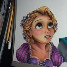 Rapunzel (Drawing by MaxxStephen @Instagram) #Tangled