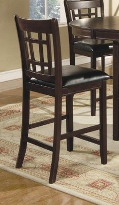 """Hyde Wheat Back Cappuccino 24/"""" Counter Stool Chair by Coaster 100209 Set of 3"""