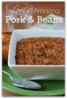 These pork and beans are filled with hamburger, bacon, and other tasty ingredients and slow cooked to perfection. Bakerette.com
