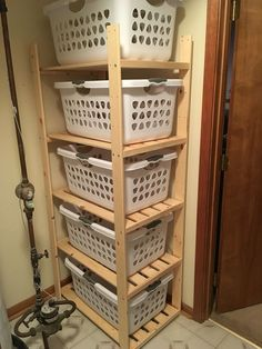 So I really wanted to sort my laundry better, but .- Also wollte ich meine Wäsche wirklich besser sortieren, aber ich musste … So I really wanted to sort my laundry better, but I had to … to by - Laundry Basket Shelves, Laundry Basket Dresser, Laundry Room Organization, Laundry Room Design, Laundry Rooms, Laundry Storage, Organization Ideas, Laundry Basket Holder, Laundry Art