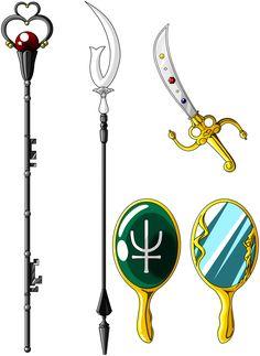 ☆彡 Sailor Pluto, Saturn, Uranus & Neptune Magical Items ☆彡 Sailor Jupiter, Sailor Pluto, Sailor Moons, Sailor Moon Manga, Sailor Neptune, Sailor Moon Crystal, Arte Sailor Moon, Sailor Moon Tattoos, Sailor Moon Cosplay