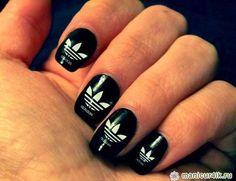 Adidas nails #nail art