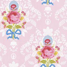 313001 Light Blue Floral Cameo - Eijffinger Wallpaper