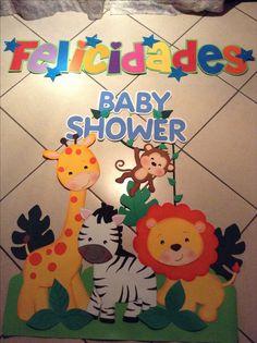 Safari Birthday Cakes, Jungle Theme Birthday, Safari Party, Diy Birthday Decorations, Balloon Decorations Party, School Decorations, Baby Shower Balloons, Baby Shower Themes, Baby Boy Shower