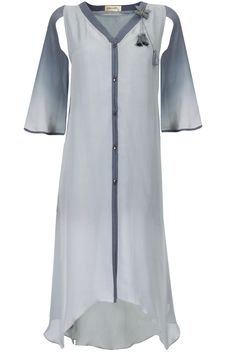Grey and ivory ombre asymmetrical tunic available only at Pernia's Pop-Up Shop.