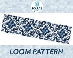 Bead loom pattern featuring vintage rose stitch motif Pattern designed for loom, however it can be used for square stitch. Miyuki Delica cylindrical beads size 11 have been carefully selected using th Bead Loom Bracelets, Beaded Bracelet Patterns, Bead Loom Patterns, Beading Patterns, Stitch Patterns, Beaded Jewelry, Crochet Patterns, Bead Crochet, Loom Beading