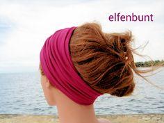 "Haarband ""Fuchsia"" Stirnband Haarband von  Maria Elfenbunt auf DaWanda.com"