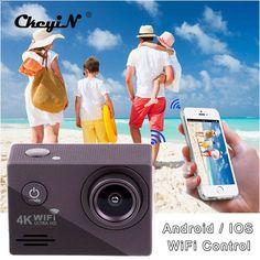 New Arrivals Ultra HD 4K WiFi Sport Camera 1080P 2.0 LCD 170D lens Helmet Cam Underwater Waterproof DVR85H-3132