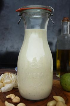 Thick and creamy vegan roasted garlic dressing is perfect for salads, casseroles, roasted vegetables, pasta, burgers, etc. Use it instead of mayonnaise!