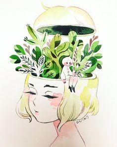 Image about art in Zeichnungen by Amy_Silver on We Heart It Beautiful Drawings, Cool Drawings, Illustration Art, Illustrations, Arte Sketchbook, Pretty Art, Aesthetic Art, Love Art, Art Sketches