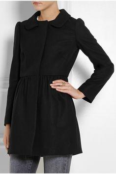 REDValentino Pleated wool-blend coat NET-A-PORTER.COM