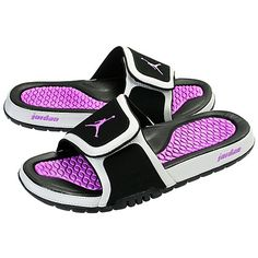 Purple Jordan Slides. Every time I look for these they are out of my size!