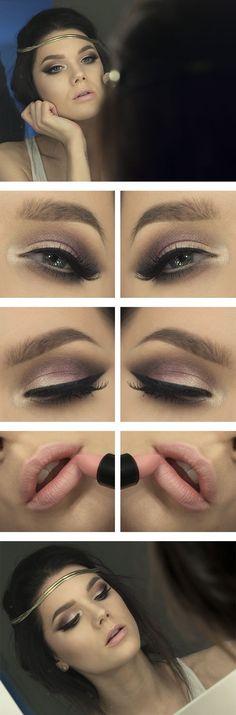 Brown Smoky Eye and Nude lip Makeup Tutorial