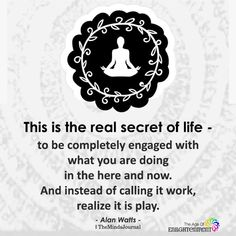 This Is The Real Secret Of Life - themindsjournal. Quotes To Live By, Me Quotes, Motivational Quotes, Inspirational Quotes, Spiritual Awakening, Spiritual Quotes, Spiritual Life, Positive Life, Positive Quotes