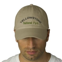 Yellowstone National Park Embroidered Hat  http://www.zazzle.com/cdandc  #nationalpark #yellowstone