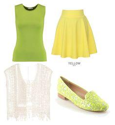 """Tiana: Princess Yellow"" by supergeekgirl591 on Polyvore featuring Oscar de la Renta, QNIGIRLS and ASOS"