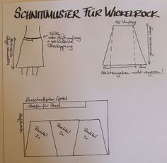 Schnittmuster und Nähanleitung für einen Wickelrock So here comes my little skirt sewing guide. It's not hard to sew yourself a wrap skirt: Measure your hip or waist circumference (depending on where you want the skirt to sit) and … Easy Sewing Projects, Sewing Hacks, Sewing Tutorials, Sewing Ideas, Sewing Clothes, Diy Clothes, Susa, Sewing Patterns Free, Pattern Sewing