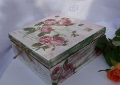 Różane pudełeczko - EskiFloreski - Szkatułki
