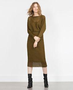 Pullover kleid damen zara