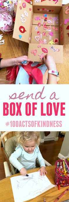 Kindness Challenge: Send a Box of Love #100actsofkindness This is an easy act of kindness shared during our 100 Acts of Kindness Challenge by Toddler Approved