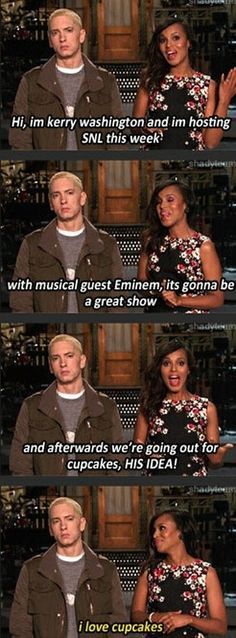Eminem shares his excitement with us all