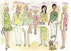 Lilly Pulitzer print designer Paige Smith drew this for the Martha Stewart Show
