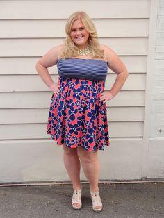 Addition Elle Printed Challis Dress worn by Karyn Johnson @killerkurves