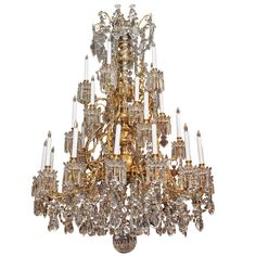 Magnificent Antique French Baccarat Crystal Chandelier circa 1850-1870.