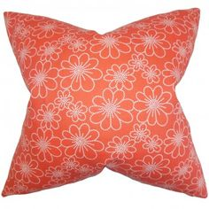 Red Lacquer The Pillow Collection Saar Floral Pillow
